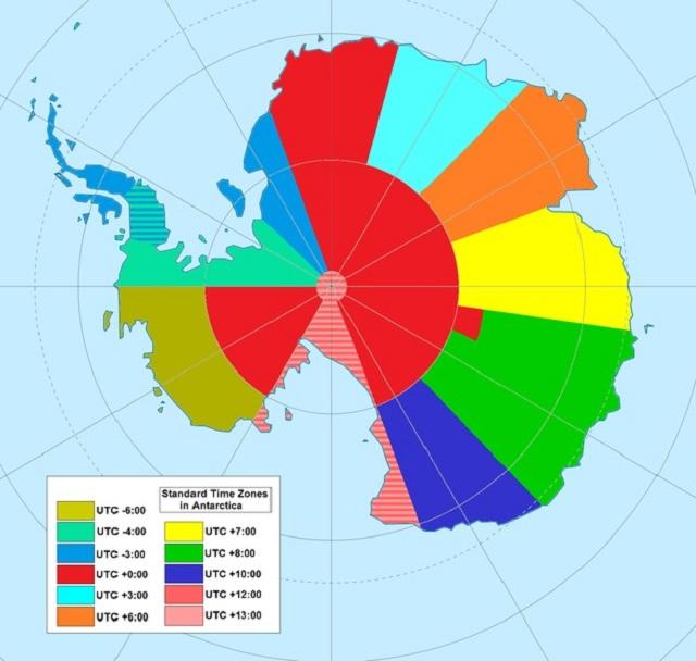 strefy czasowe na antarktydzie