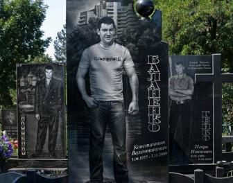 Obciachowe nagrobki rosyjskich gangsterów