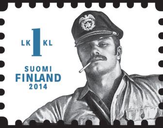 Gejowskie sado-maso na znaczkach pocztowych w Finlandii