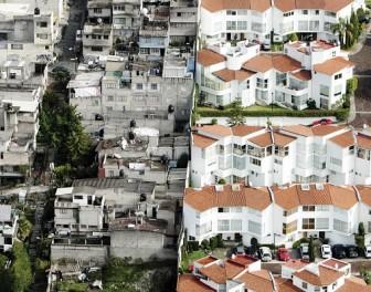 Zdjęcia lotnicze Meksyku pokazują drastyczny kontrast między biednymi a bogatymi