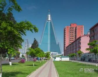 Spektakularny film poklatkowy pokazuje stolicę Korei Północnej jako całkiem przyjemne miejsce