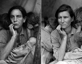 Słynne zdjęcia portretowe odtworzone z Johnem Malkoviciem w roli głównej