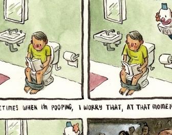 Dziwne, irracjonalne lęki zilustrowane krótkimi komiksami