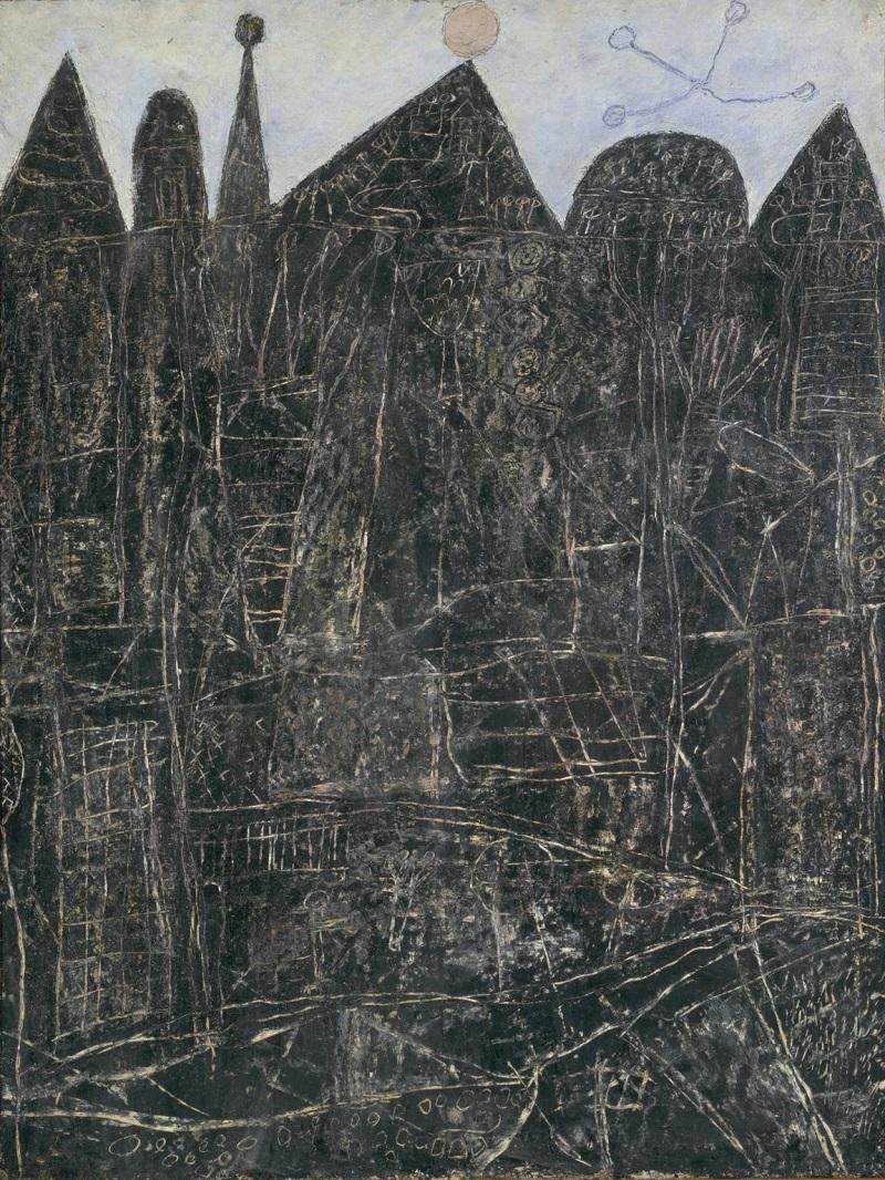 Large Black Landscape 1946 by Jean Dubuffet 1901-1985