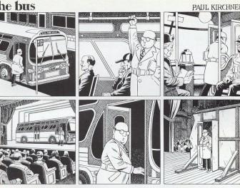 Surrealistyczno-paranoidalna seria krótkich komiksów o miejskim autobusie