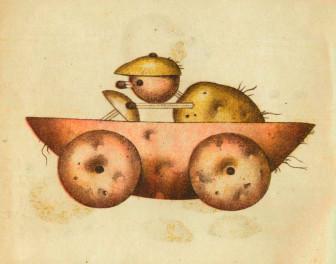 Sowiecka książka z 1931 roku pokazująca jak robić zabawki z ziemniaków