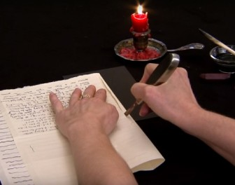 Historyczne metody składania listów tak, aby pełniły dla siebie funkcję koperty